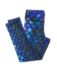 purple blue and black dragon scale leggings