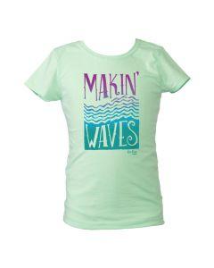 Kids Makin' Waves Tee - Mint