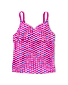 Girls Malibu Pink Tankini Top
