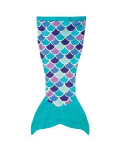 Cuddle Tails Mermaid Tail Blanket in Aqua Dream