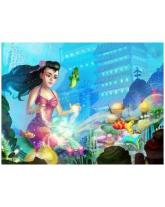 "Mermaidens Poster ""Jia's Enchanted Garden"""