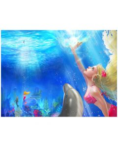 "Mermaidens Poster ""Waverlee's Rescue"""