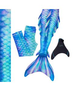 Pacific Pearl premium Mermaid Tail Set/Monofin with matching leggings