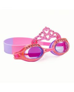 pink and purple tiara bedazzled swim goggles from bling2o