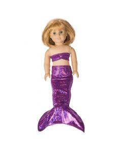 Purple Sky Doll Tail & Top - 18 inch
