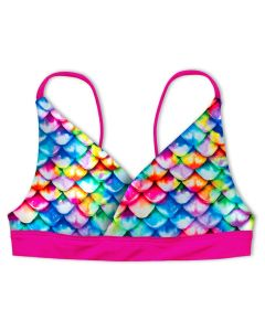 Girls Rainbow Reef Reversible Bikini Top