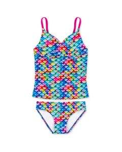 Girls Rainbow Reef Tankini Set