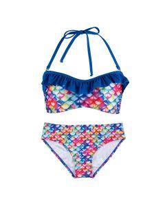 Rainbow reef bandeau bikini set