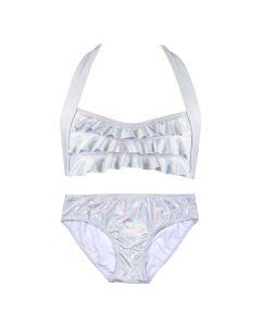 Iridescent Silver Seawave Bikini Set