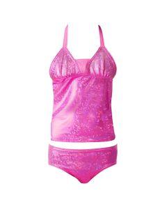 passion pink tankini set