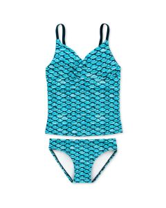 Girls Tidal Teal Tankini Set