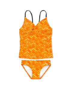 Girls Tropical Sunrise Tankini Set