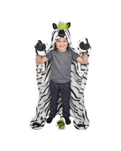 wearable zebra blanket