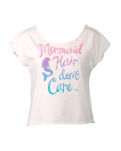 Adult Hair Don't Care Tee - White
