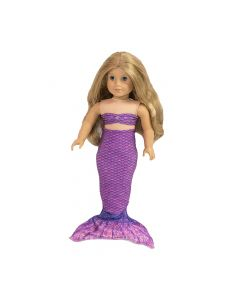 Asian Magenta Doll Tail and Top - 18 inch