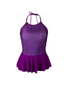 Asian Magenta Peplum Tankini Top