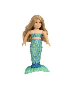 Aussie Green Doll Tail and Top - 18 inch