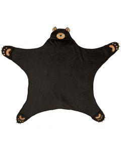 Wild Things Cinder Black Bear Blanket