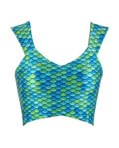 Aussie Green Crop Top