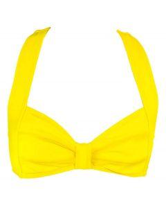 Yellow Clamshell Bikini Top