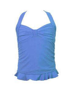 Dark Blue Clamshell Tankini Top