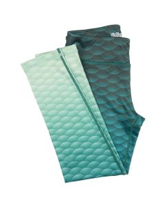 Deep Sea Green Mermaid Leggings