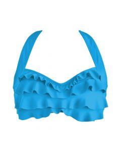 Blue Sea Wave Bikini Top