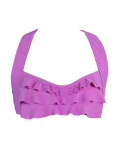 Light Purple Sea Wave Bikini Top