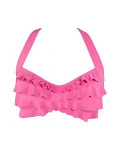 Pink Sea Wave Bikini Top