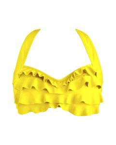 Yellow Sea Wave Bikini Top
