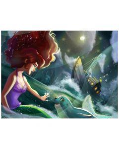 "Mermaidens Poster ""Brynn's Guiding Light"""