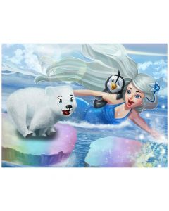 "Mermaidens Poster ""Crystal's Arctic Adventure"""