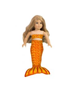 Tropical Sunrise Doll Tail & Top - 18 inch