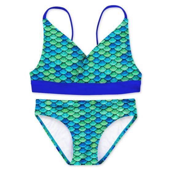 Girls Aussie Green Bikini Set