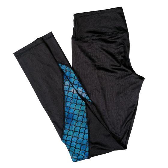 black mermaid scale leggings