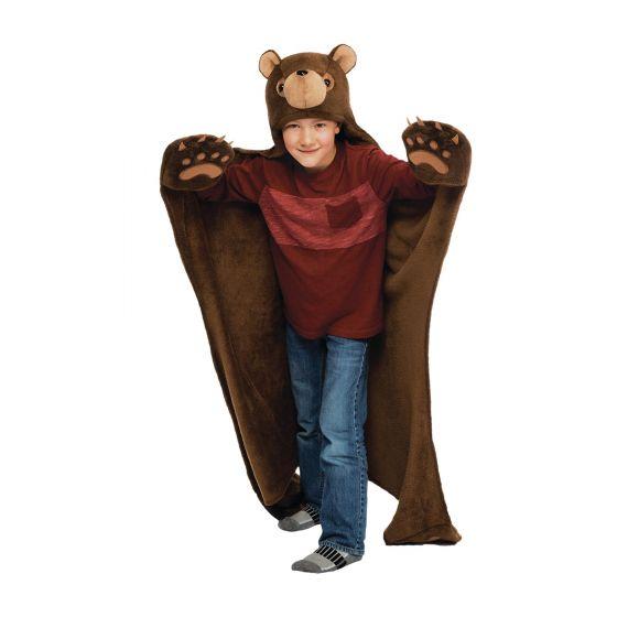 boy brown bear blanket