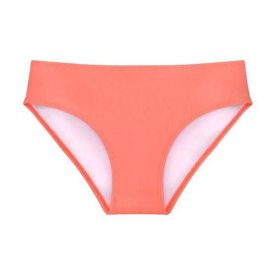 a coral bikini bottom