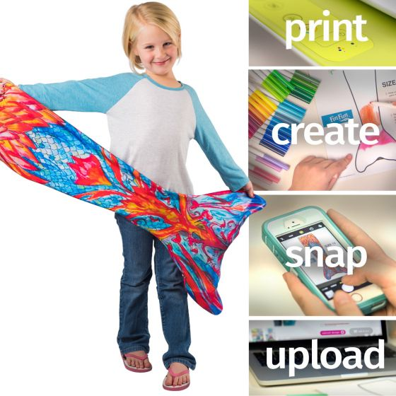 Custom design your own swimmable mermaid tail with Fin Fun