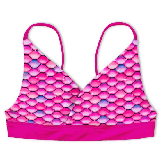 Girls Malibu Pink Reversible Bikini Top