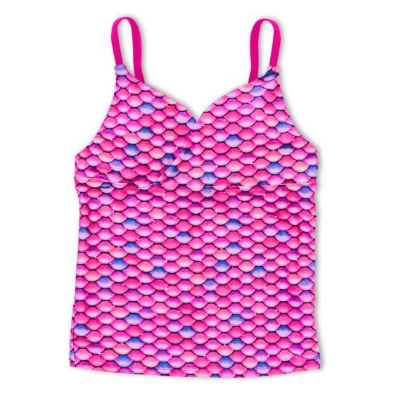 Girls Malibu Pink Tankini Top