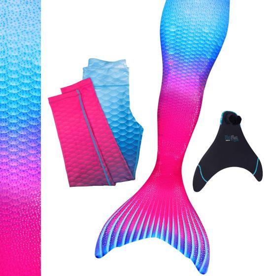 Maui Splash Mermaid Swim Tail Set/Monofin with Matching Leggings