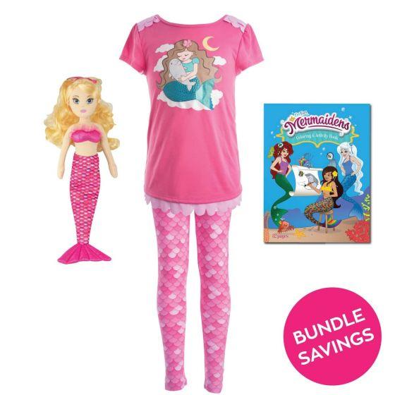 Mermaid Pajama & Waverlee Doll Gift Set