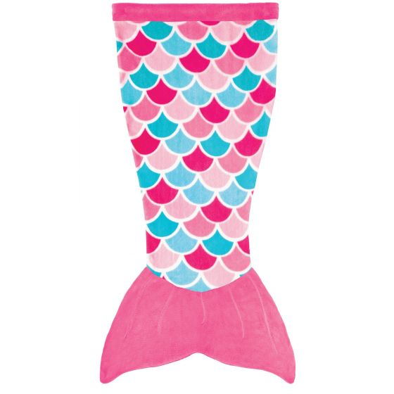 Cuddle Tails Mermaid Tail Blanket in Pink Dream