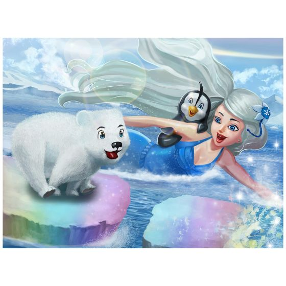 "Mermaidens Poster ""Crystal's Arctic Adventure"""
