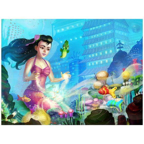 "Mermaidens Poster ""Jia's Enchanted Garden"""