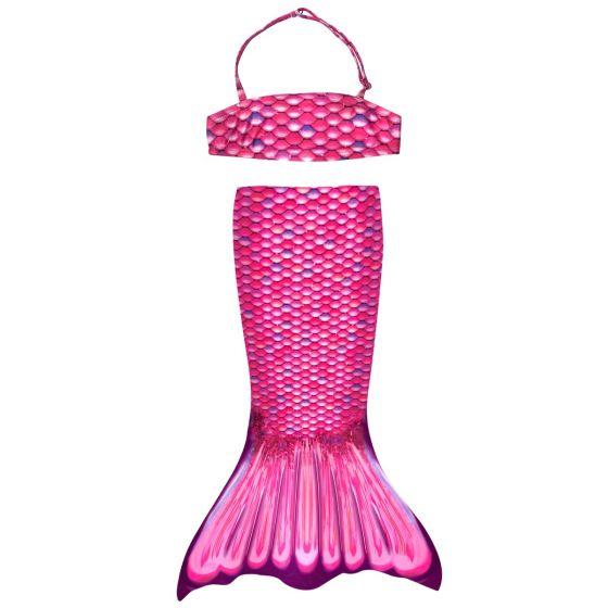 Malibu Pink Toddler Tail and Bandeau Set