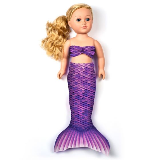 Asian Magenta Doll Tail Set – 18-Inch