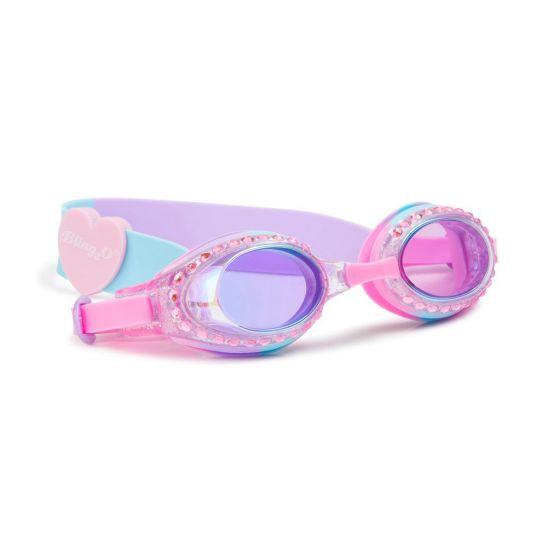 Classic Swim Goggles: Bubblegum Blue