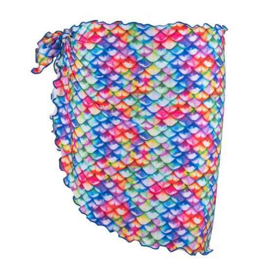 Rainbow Reef sarong with bright colors