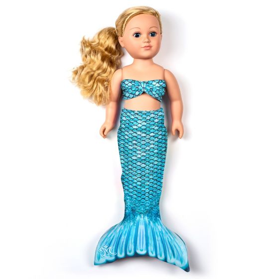 Tidal Teal Doll Tail and Top - 18 inch